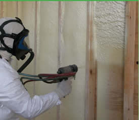 Sealing Wall With Spray Foam